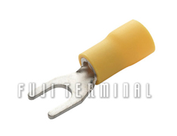 PVC绝缘叉形端子(加铜套)