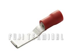 PVC绝缘折角板形端子(加铜套)
